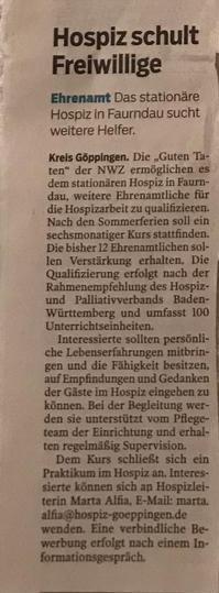Presse Hospiz Göppingen